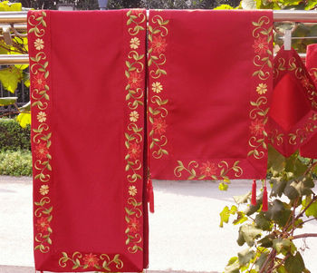 Size: 14.5X34 Inches,Christmas Decoration/Ornament, Embroidery  Table Runners