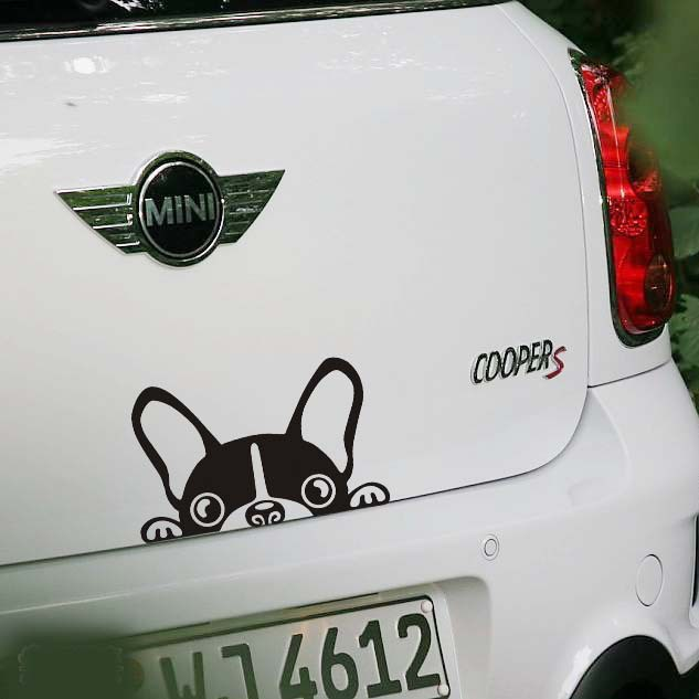 Car Reflective Sticker Car Dog Peep Rear Mirror Decals Funny Sticker Car Decoration Stickers on Car