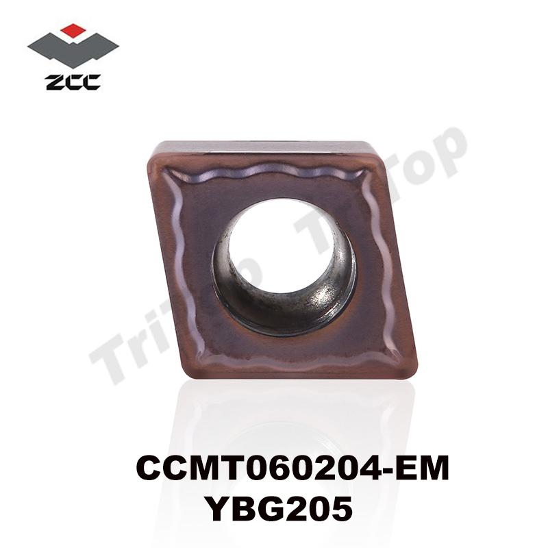 ZCCCT TOOL CCMT 060204 EM YBG205 (10pcs/box) ZCC.CT tungsten Carbide Cutting tools turning insert ZCC CCMT060204 YBG205(China (Mainland))