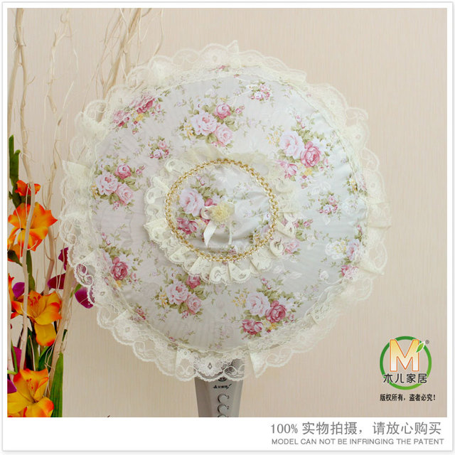 Fan Cover Dust Protective Circle All-inclusive Fabric Lace  Free Shipping High Quality Fast Delivery Full Return 90%OFF