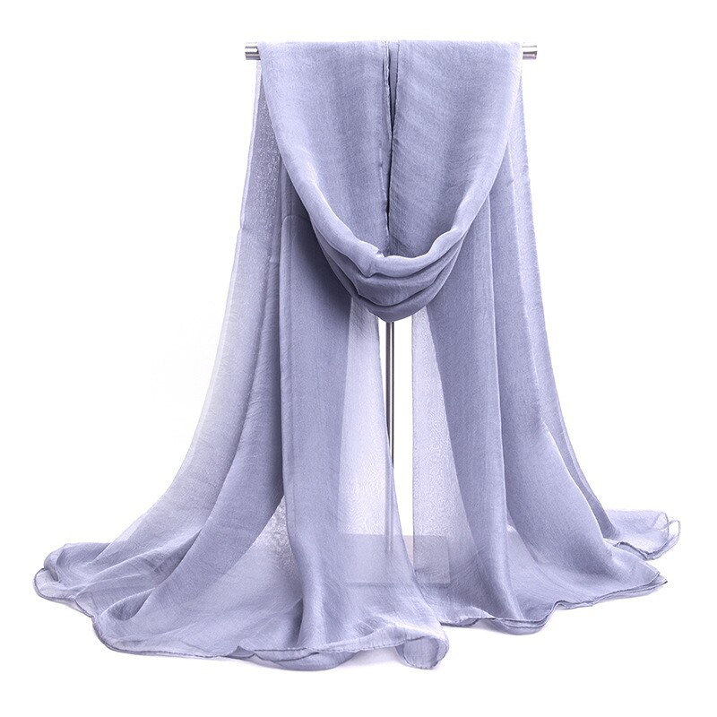 New Fashion Mujer Bufanda Chal Designer Light Gray Women's Chiffon Scarf Summer Big Shawl Rayon Scarves Size 140 x 170cm WS022-D(China (Mainland))