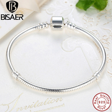 Buy BISAER 925 Sterling Silver Snake Chain Bangle Star Cubic Zircon CZ Fit Original Brand Bangles & Bracelets Jewelry HJS901 for $16.79 in AliExpress store