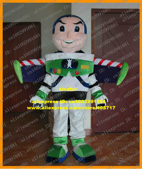 Handsome Pink Buzz Lightyear Light Year Toy Story Mascot Costume With Dense Eyebrows Green Shoes White Even Tooth No.6601 FS(China (Mainland))