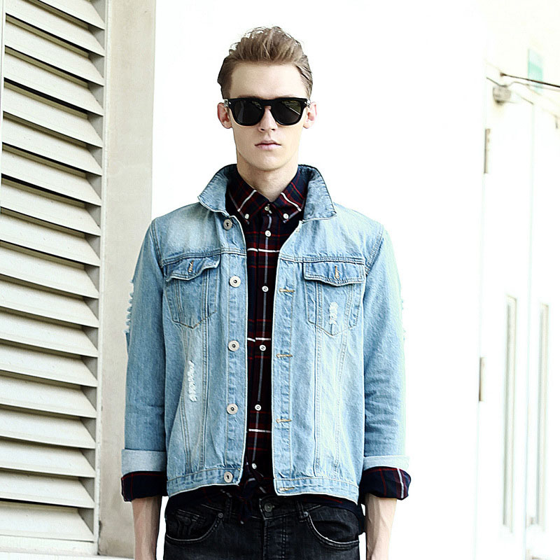 Mens Light Denim Jacket - JacketIn