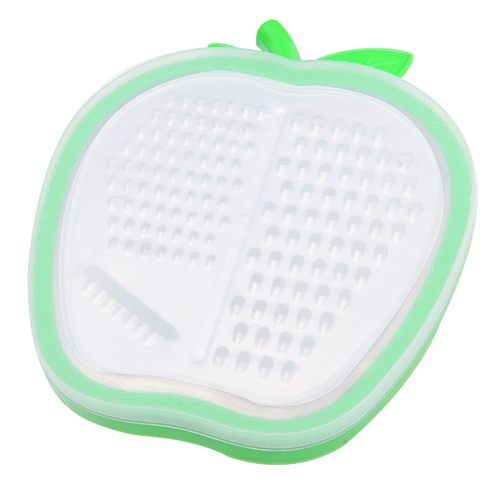 SMILE MARKET Cheap and Best Quality Plastic Green Color Apple Shaped Fruit and Vegetable Graters(China (Mainland))