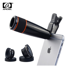 Buy 20pcs/lot Universal Camera Phone Lens Kit 12XTelephoto Lens+ Wide Angle & Macro+ Fisheye Fish eye Lens iPhone Samsung HTC for $189.99 in AliExpress store