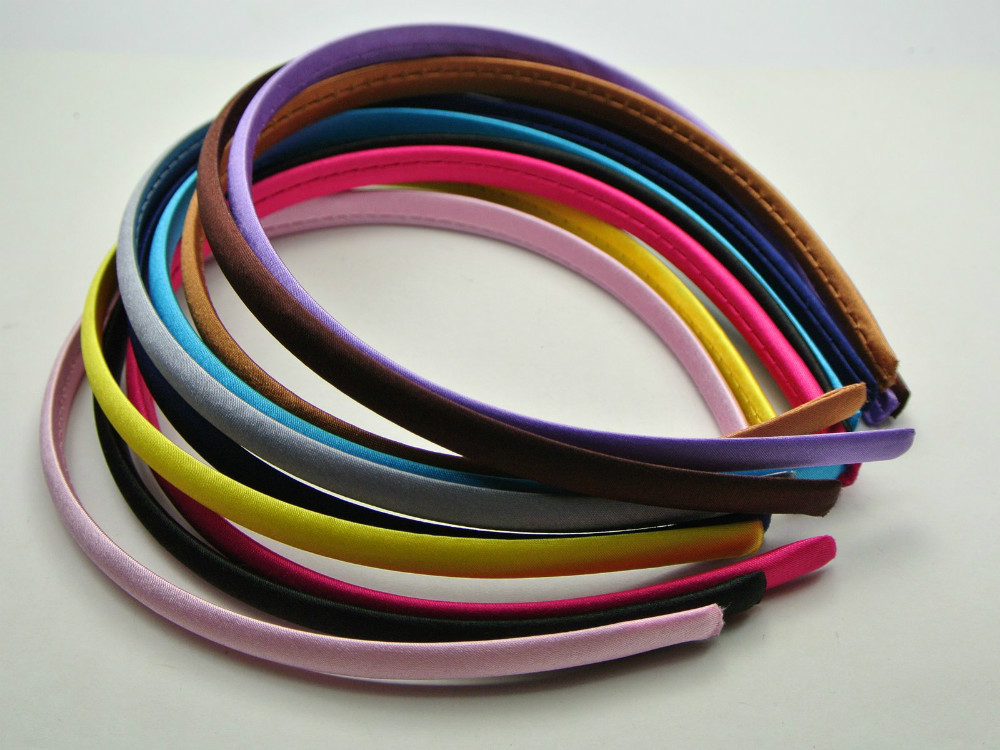 Covered Hair Bands Covered Satin Hair Band