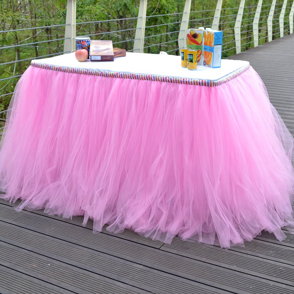 Online Get Cheap Tulle Tutu Table Skirt Aliexpresscom