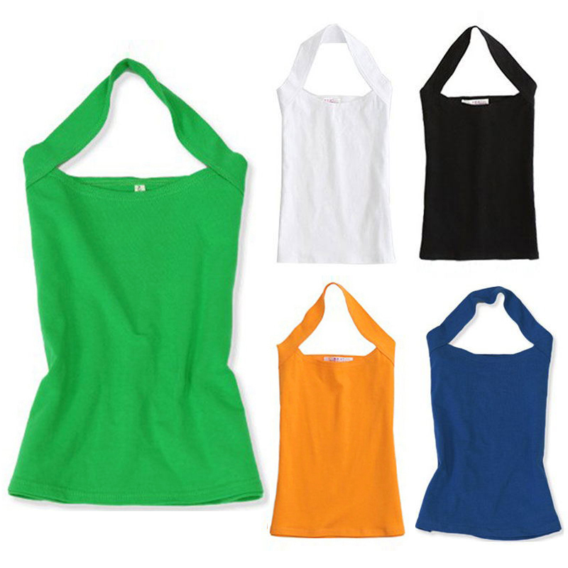 New Fashion Sexy Women's Lady Halter Neck Sleeveless Vest Tank Tee Backless Top Free shipping
