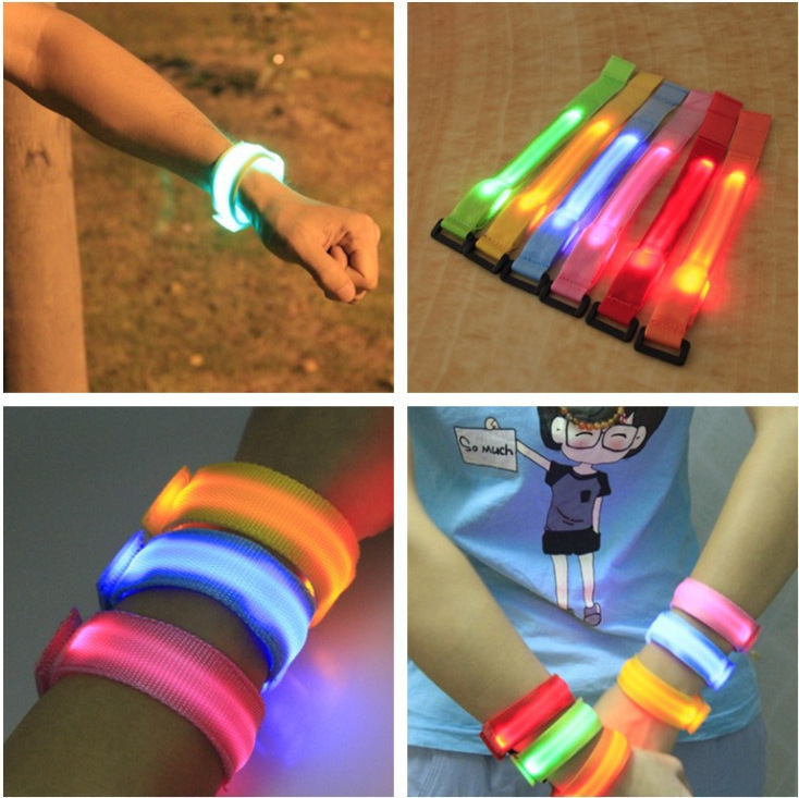 Awesome Party Glowing Bracelet LED Flash Bracelet Wrist Ring Nocturnal Warnings Ring Running Gear Glowing Armband(China (Mainland))