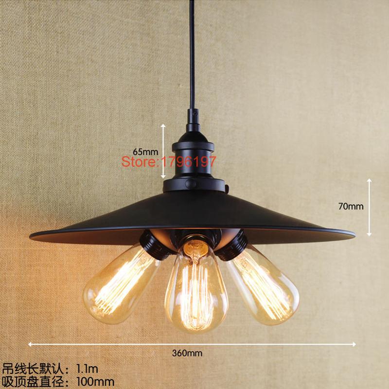 Retro vintage luminaire pendant light loft creative for Luminaire exterieur retro
