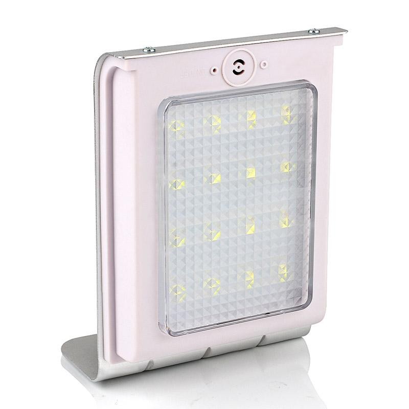 Solar Powered 16 LEDs Sound Sensor Solar Powered Panel Light Garden Lamp Outdoor Wall Light IP64 800mAh Battery Auto On/Off Pure(China (Mainland))