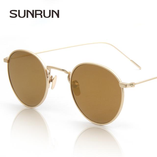 Sunrun мужчины люксовый бренд солнцезащитные очки дизайнеры женские солнцезащитные ...