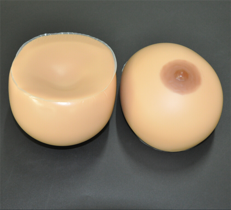 Фотография 1400g/Pair D cup Performance props artificial fake breasts Transsexuals blasting milk drag breast Suntan Silicone Breast