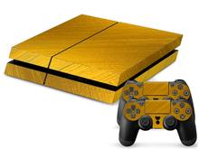 Gold For ps4 skin stickers for playstation 4 ps 4 consoles with 2pcs controller skin stickers ps4 accessories