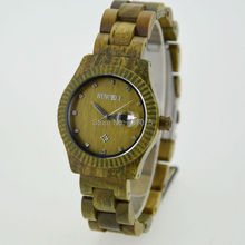 Fashion Women Wooden Wristwatches Japan Miyota Movement With Calendar New Design Natural Wood Wristatches
