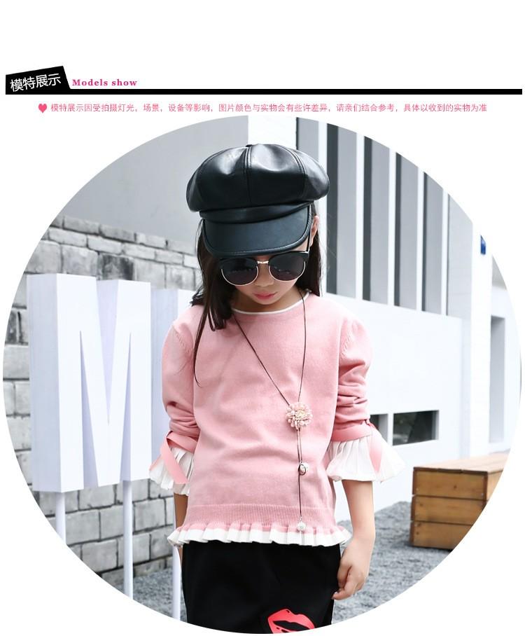 Скидки на Девушка свитер вязание свитер спортивный костюм девушка осень зима одежда детская одежда 4 6 8 10 12 14 лет