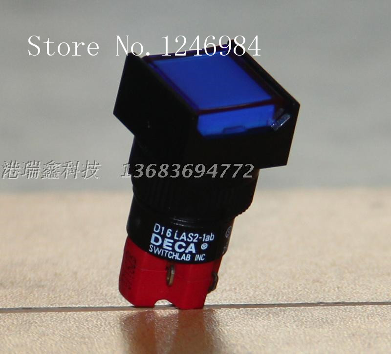 [SA]Taiwan Progressive Alliance D16LMS2-1AB blue square without a lock button switch single touch button DECA--10pcs/lot<br>