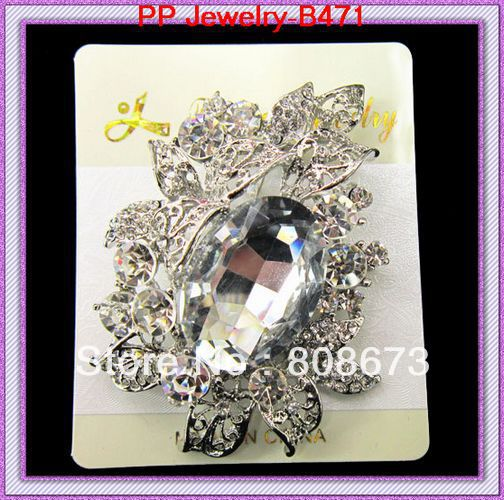 Wholesae- Cheap price silver plated large crystal brooches wedding costume pin brooches<br><br>Aliexpress