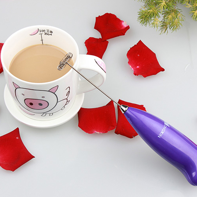 New Multi-purpose Kitchen Gadgets Electric Handle Coffee Milk Egg Beater Machine Manual Whisk Frother Cooking Tools(China (Mainland))