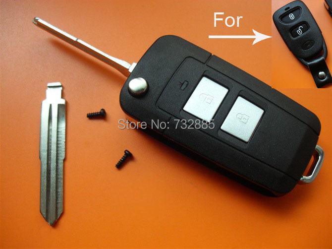 50% shipping Top Quality Hyundai elantra ,Santa Fe modified flip remote key shell 2 button wholesale and retail