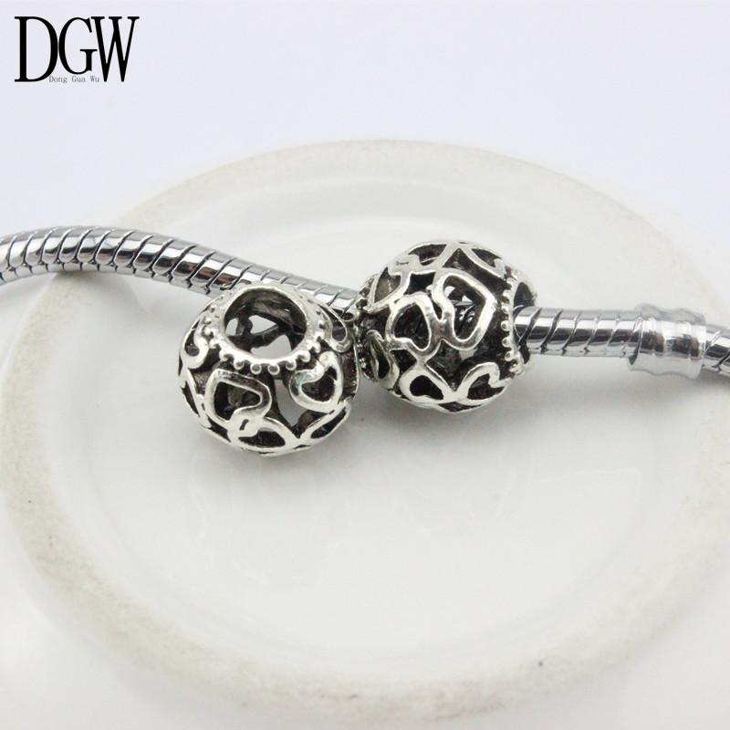 DGW Free Shipping Daisies Murano Flower Heart European Beads Diy Bead Charms Fit Pandora Bracelets & Bangles B5-01-04(China (Mainland))