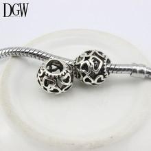 DGW Free Shipping 1Pcs European   Crystal Beads Charm Bead Fit Women Diy Charm Fit Pandora Bracelets & Bangles B4-1-13