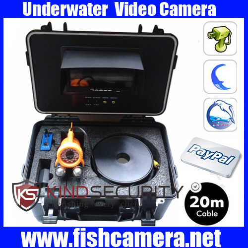 20M  CCTV 7 Color TFT LCD Underwater Fishing Camera with  1/3 Sony CCD 36pcs White LEDs Remote Control Night Vision<br><br>Aliexpress