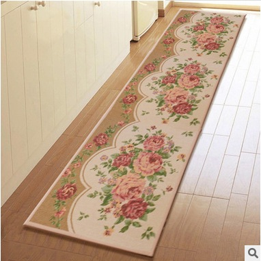 Hot Sale Pastoral Style Floor Door Anti-Slip Mats Hallway Table Carpet Bedroom Living Room Bath Rug(China (Mainland))