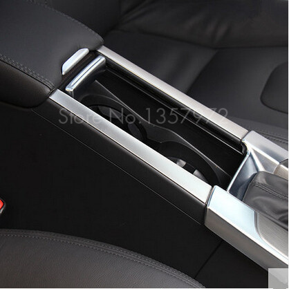 Top quality! 2pcs/set Stainless steel cup holder armrest box For Volvo S60 /S60L/ V60/ XC60 decoration Accessories(China (Mainland))