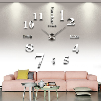 New DIY 3d Home decoration wall clock big mirror wall clock Modern design,large size wall clocks.diy wall sticker unique gift