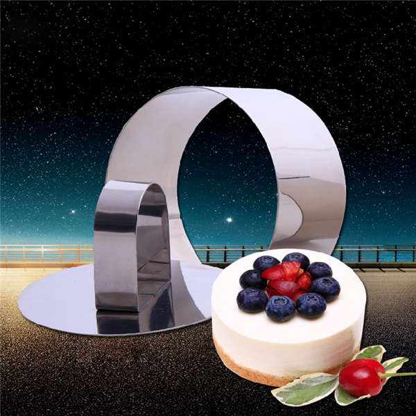 1 PC Retractable Mousse Ring 3 Shapes To Choose Bakeware Stainless Steel Mousse Cake Mold Square Round Heart Shape Cake Mould(China (Mainland))
