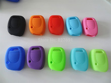 Silicone Key Shell Cover Renault Clio Kangoo Twingo 1 Button Remote Blank Colorful 1pc car key - carkeyone store