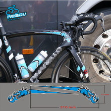 Buy READU 11.5 X 31CM Stickers Bisiklet Aksesuar Road Bicycle Frame Haed Tobe Blue Stickers 3M High Bike Mtb Stickers for $15.37 in AliExpress store