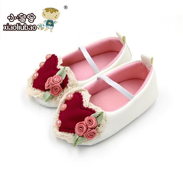 Девочка обувь 2016 весна осень малыш девушки цветочный мягкой подошвой non-slip первые ...