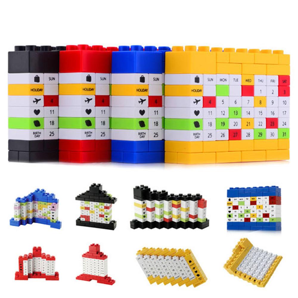 Гаджет  Free shipping!!! Novelty Changeable 2013 Bricks DIY Perpetual Puzzle Calendar  Dropshipping&Wholesale None Офисные и Школьные принадлежности