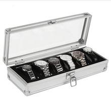 6 Grid Insert Slots Jewelry Watches Display Storage Box Case Aluminium Watch Box Jewelry Decoration Hot!(China (Mainland))