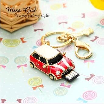 Гаджет  16g U disk cute girls fashion personality gift mini car Smart jewelry bag mail u None Изготовление под заказ