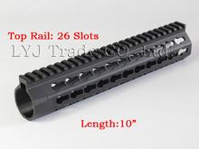 Free Float Slim Handguard One-piece Top Rail System KeyMod High Quality Light  With Barrel Nut For AR-15 Black(China (Mainland))