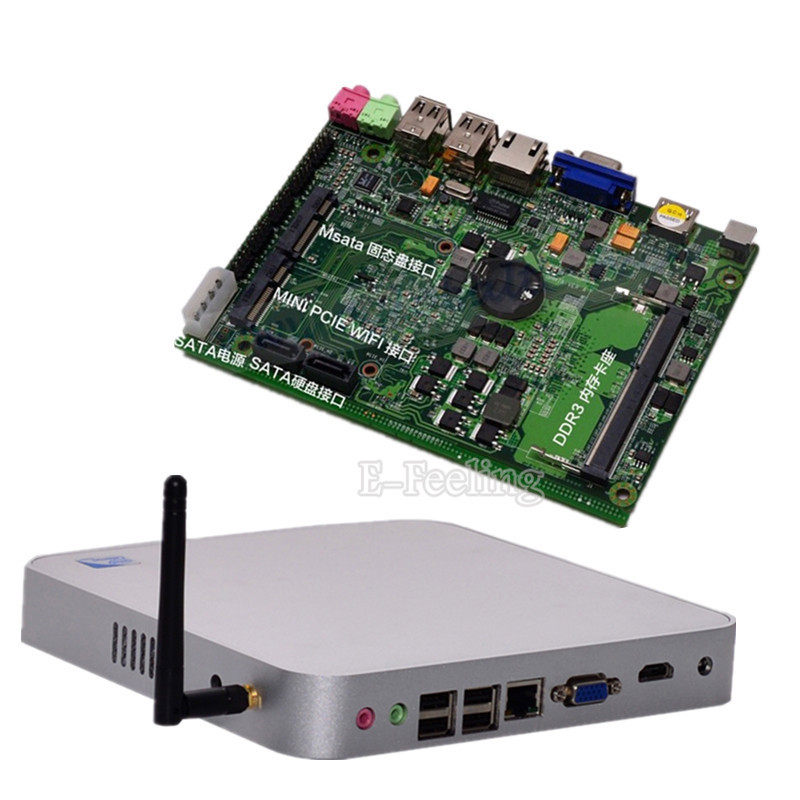 Cheap Fanless Multi Language Microsoft Windows 7 Professional Mini PC 4G DDR3 RAM 500G HDD Assembled Desktop Computer(China (Mainland))