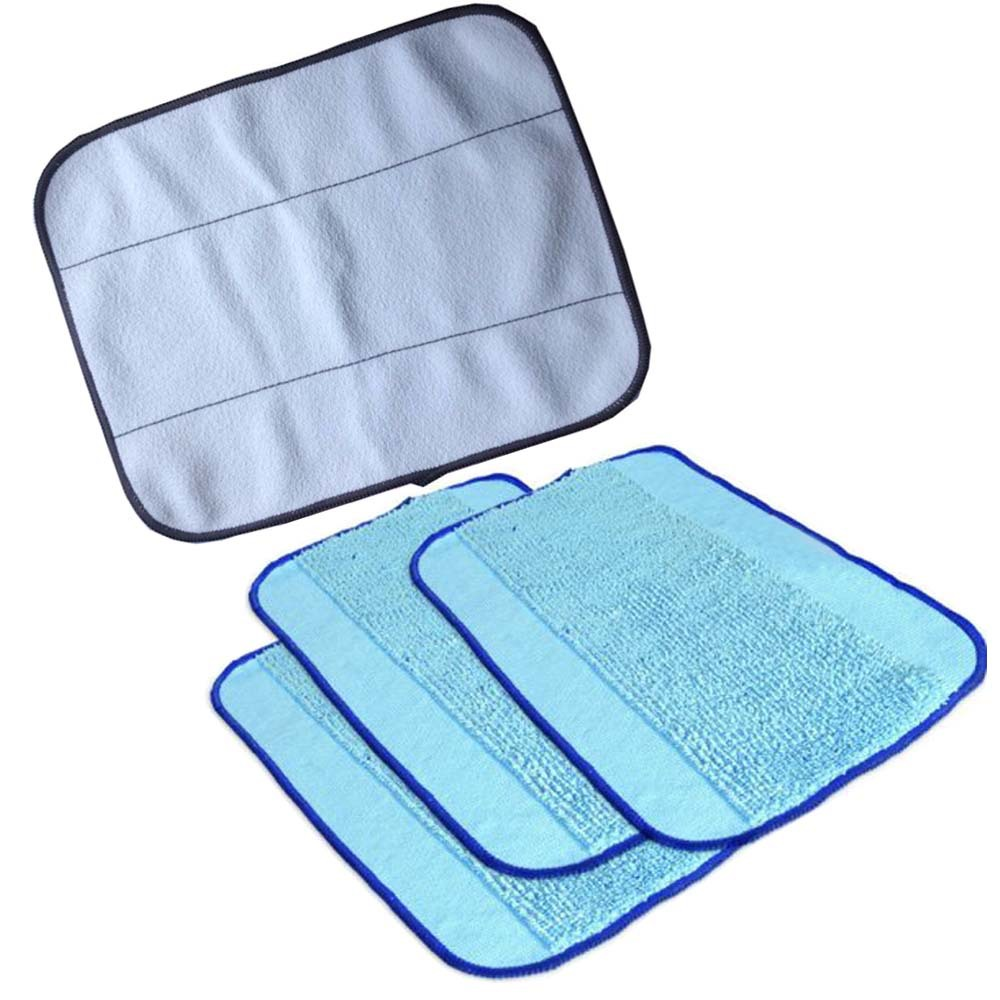 4-Pack Mixed Microfiber Mopping Cloths 3 wet + 1 dry for iRobot Braava 380 380t 320 Mint 4200 4205 5200 5200C Robot(China (Mainland))