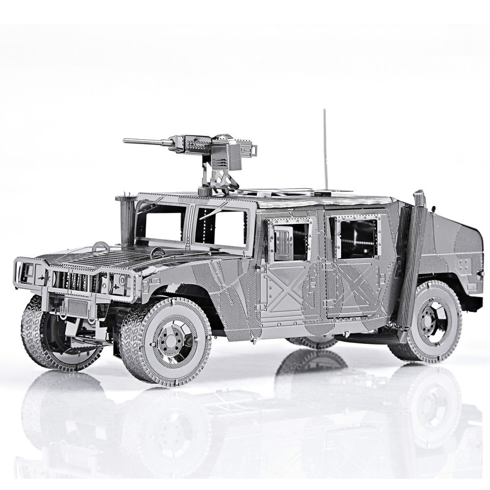 Diy Metal Assembly Model Building Kits Miniature 3D Puzzle Educational toys Greative Birthday Gift Toy-Hummer jeep vehicles(China (Mainland))