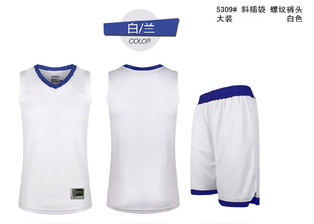 2016 new men's cheap basketball training Jersey sets blank college sports jerseys uniforms tracksuit throwback DIY printing(China (Mainland))
