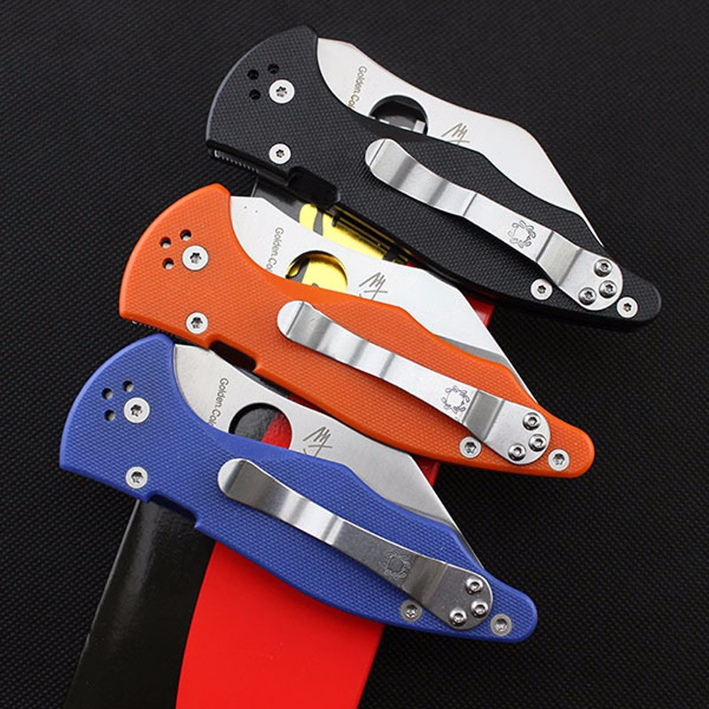 Buy Hot Sale GP spyderco C85 GP2 Hunting Folding Blade Knifes G10 Handle Tactical Hunting KNIFE Camping survival Pocket Knife cheap