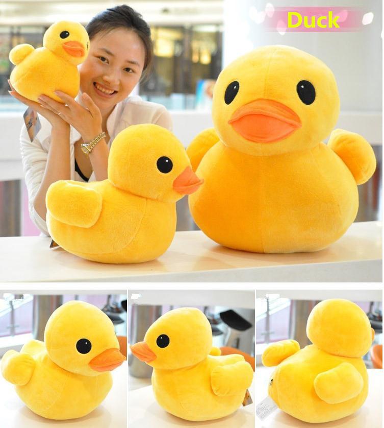 Plush stuffed toys, big yellow duck plush toys, stuffed duck doll for children, cotton soft, 20cm ducks, free shipping<br><br>Aliexpress