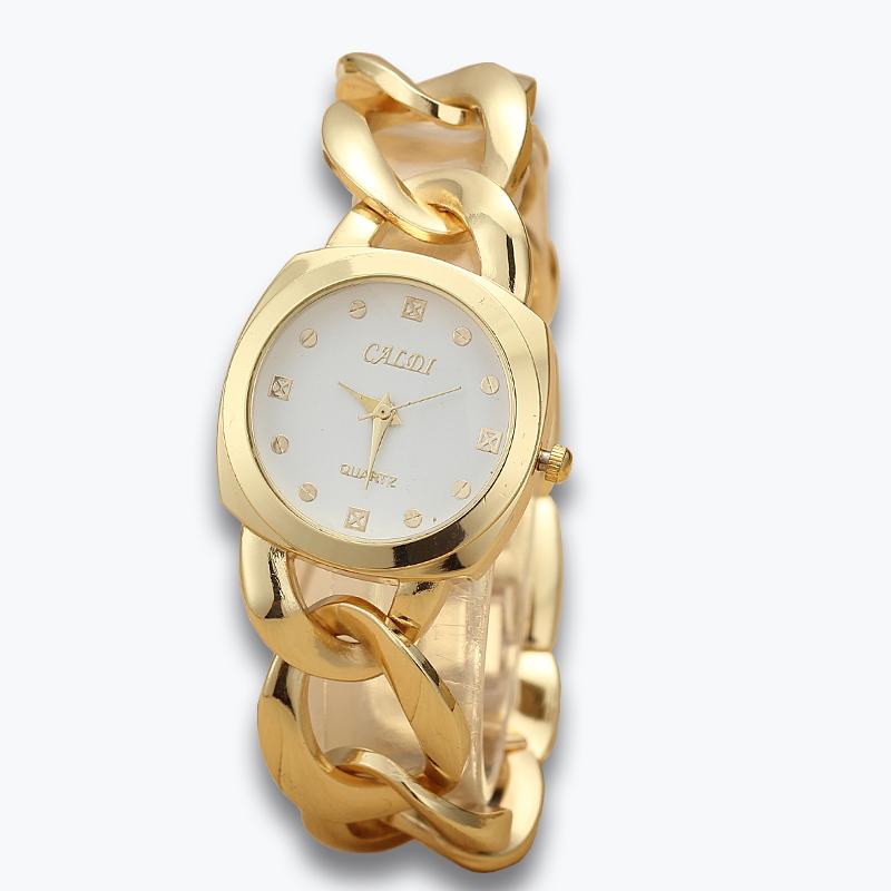 fashion leisure Ladies gold watches,Luxury brand watch women in 2015,  Bracelet design waterproof quartz watch, dress watches<br><br>Aliexpress