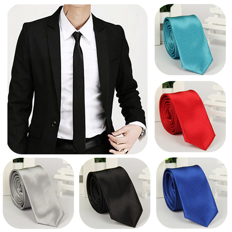 2015 Hot Sale Fashion Casual Slim Tie Men s Solid Color Skinny Necktie Formal Wedding Party