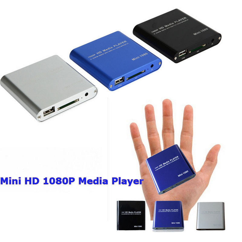 Mini Full HD 1080P USB Media Player With HDMI/AV/SD/MMC MKV AVI Blue-ray Movies Free Shipping(China (Mainland))