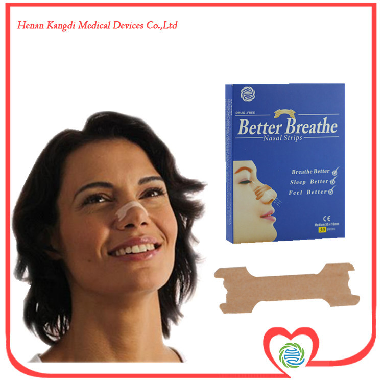 ISO Certificated 60Pcs/Lot Clear Nasal Breathing Strips 6.6x1.9CM Snoring Stopper Relief For Nasal Congestion Free Shipping(China (Mainland))