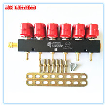 High speed silent CNG LPG Injector Rail for 6 cylinder Sequential Injection System Common Rail Injector with accessories(China (Mainland))
